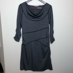 ATHLETA | Gray Ukiah 3/4 Sleeve Dress Large L